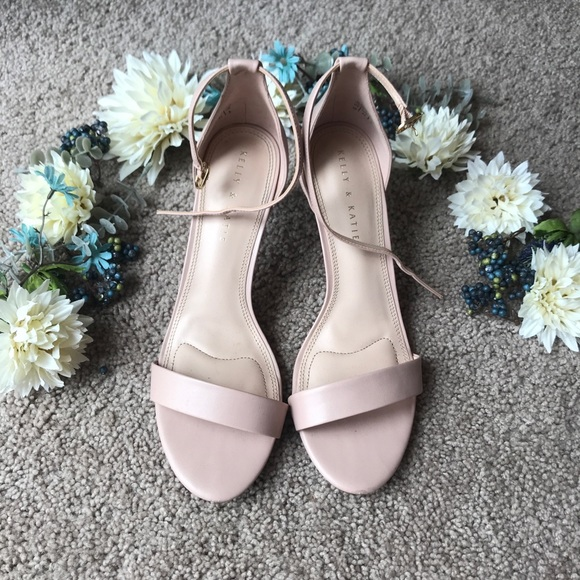 """c6e82a0f464 Kelly   Katie Shoes - Kelly   Katie """"Kirstie"""" Pink Taupe Sandal Heel"""
